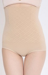 กางเกงกระชับหน้าท้องเอวสูงมีกันม้วน
