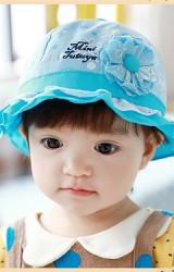 หมวกเด็กหญิงลายดอก แต่งดอกไม้น่ารัก จาก TUTUYA