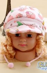 หมวกเด็กอ่อนลายสัตว์น่ารัก ผ้ายืดนิ่ม