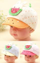 หมวกแก๊ปเด็กเล็กรูปกระต่ายหม่ำแตงโม