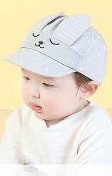 หมวกแก๊ปกระต่ายหูตั้งลายดาว