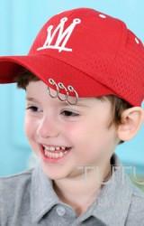 หมวกแก๊ปเด็กปักรูปมงกุฎ ปีกหมวกมีห่วง