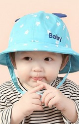 หมวกปีกรอบลายดาว ปัก Baby แต่งหูน่ารัก TIANYIBEAR