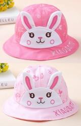 หมวกบัคเก็ตหน้ากระต่ายน้อย