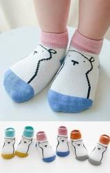 เซ็ตถุงเท้าเด็กลายหมีตัดขอบสีสดใส แพ็ค 3 คู่