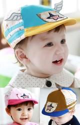 หมวกแฟล็ตแค็ป Flat Cap ด้านหน้ารูปดาว แต่งปีกแต่งน่ารัก TUTUYA