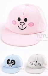 หมวกแก๊ปฮิปฮอปหน้าการ์ตูนสัตว์น่ารัก