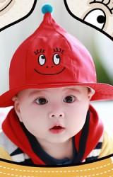 หมวกบัคเก็ตปีกรอบยอดแหลม ปักหน้าการ์ตูนยิ้ม TUTUYA