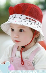หมวกปีกรอบลายการ์ตูนแต่งหูน่ารัก ตัวหมวกผ้าตาข่าย TUYUTA