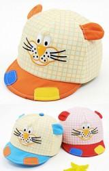 หมวกแก๊ปหน้าเสือน้อยลายตาราง