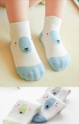 เซ็ตถุงเท้าเด็กลายหมีขั้วโลก แพ็ค 3 คู่ ฟ้า,เขียว และ เทา