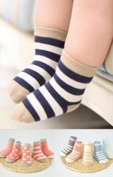 ถุงเท้าเด็กแพ็ค 5 คู่  แบบข้อสั้น ไม่มีกันลื่น