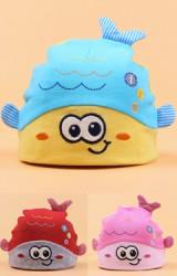 หมวกบีนนี่เด็กเล็กรูปปลาน้อย
