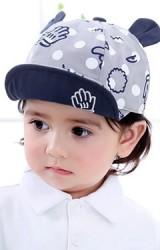 หมวกแก๊ปลายมือแต่งหูน่ารัก จาก KUKUJI