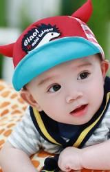 หมวกแก๊ปเด็กปักลายเม่นน้อยน่ารัก ด้านหลังผ้าตาข่าย TUTUYA