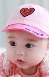 หมวกแก๊ปเด็กเล็กปักหัวใจแดง จาก TUTUYA