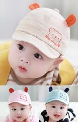 หมวกแก๊ปเด็กเล็กปักหมีน้อย แต่งหูน่ารัก จาก TUTUYA