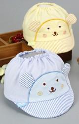 หมวกแก๊ปเด็กแรกเกิด หมวกรูปหมีด้านบนเปิดโล่งมียางยืด