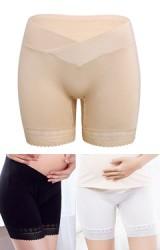 กางเกงซับในคนท้องเอวต่ำแบบขอบไขว้ ชายลูกไม้