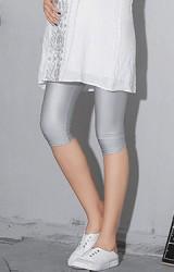 กางเกงเลคกิ้งคนท้องขา 4 ส่วน ผ้าเงาลื่น