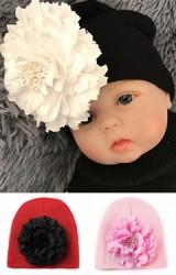 หมวกสาวน้อยแต่งดอกไม้ใหญ่