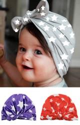 หมวกอินเดียลายดาวผูกโบว์