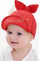 หมวกแก๊ปแต่งหูกระต่ายตั้ง ปักอักษร Milk