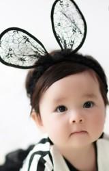 ผ้าคาดผมหูกระต่ายใหญ่ผ้าลูกไม้สวย จาก Angel Neitiri