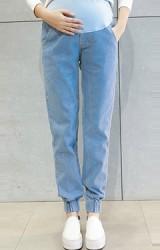 กางเกงยีนส์คนท้องขายาวปลายขาจั๊ม