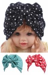 หมวกอินเดียโบว์ใหญ่สำหรับสาวน้อย มีให้เลือกลายจุดและลายดอกไม้