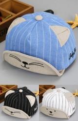 หมวกแก๊ปลายทางหน้ามีและแมวแต่งหูน่ารักจาก KUKUJI