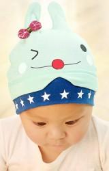 หมวกบีนนี่กระต่ายน้อยแต่งโบว์เล็กน่ารัก