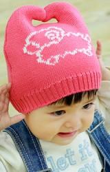 หมวกเด็กไหมพรมแกะ