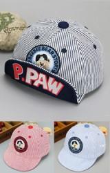 หมวกแก๊ปลายทางปักหมีน้อย ใต้หมวกสกรีนอักษร P.PAW