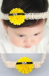 สายคาดผมดอกไม้สีเหลืองแต่งตาเล็กๆ จาก Angel Neitiri