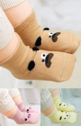 ถุงเท้าเด็กลายหน้าสัตว์น่ารัก มีกันลื่น