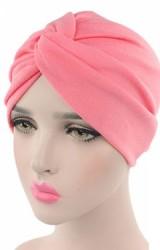 หมวกอินเดียผ้าสีพื้นด้านหน้าสอดไขว้ ไซส์ผู้ใหญ่