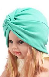หมวกอินเดียผ้าสีพื้นด้านหน้าสอดไขว้ ไซส์เด็ก