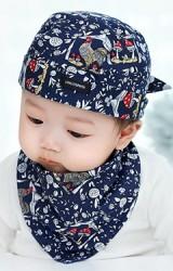 เซ็ตหมวกเด็กโจรสลัดมาพร้อมผ้ากันเปื้อนสามเหลี่ยม
