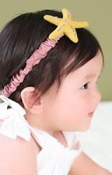 สายคาดผมเด็กผ้าฝ้ายแต่งรูปดาว   Angel Neitiri