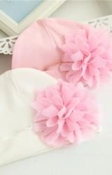 หมวกสาวน้อยแรกเกิดแต่งดอกไม้