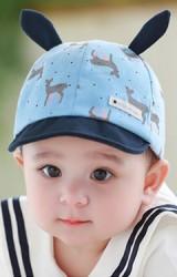 หมวกแก๊ปลายกวางแต่งหูเล็กน่ารัก TUTUYA