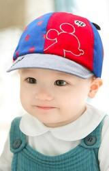หมวกแก๊ปเด็กลายดาวปักมิกกี้ จาก GZMM