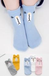 เซ็ตถุงเท้าเด็กแพ็ค 5 คู่ ลายหมี