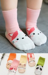 เซ็ตถุงเท้าเด็กแพ็ค 5 คู่ ลายแกะ แมว หนู กระต่าย และ แพนด้า