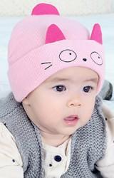 หมวกไหมพรมหน้าแมวเหมียว จาก keaibeibei