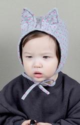 หมวกบอนเนตหูกระต่ายลายจุด จาก KUKUJI