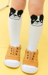 ถุงเท้าเด็กแบบยาวลายสุนัขบลูด๊อก