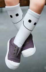 ถุงเท้าเด็กแบบยาวลายไอค่อนยิ้มอักษร SUNSHINE
