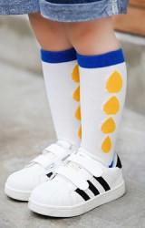 ถุงเท้าเด็กแบบขอบลายเม็ดฝน